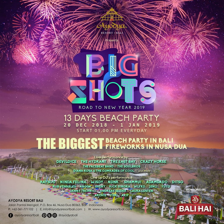Ayodya Resort Bali Welcomes New Years With 13 Days Beach Party What S New Bali