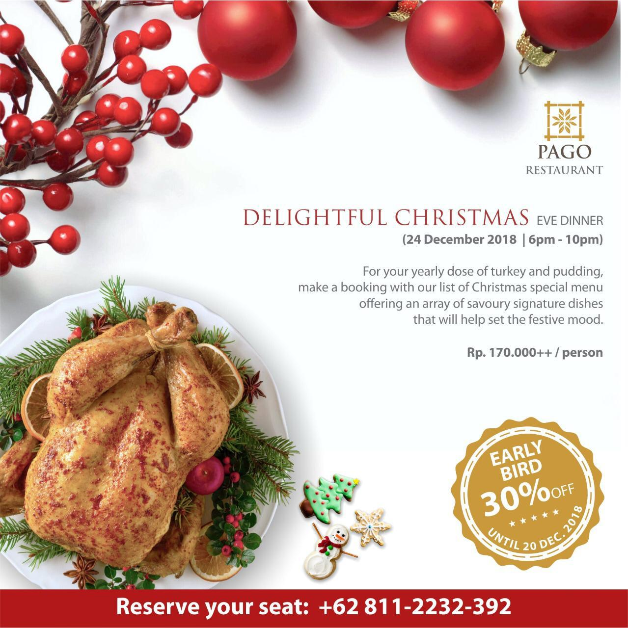 Delightful Christmas Eve Dinner at The Papandayan - What\'s New Bandung