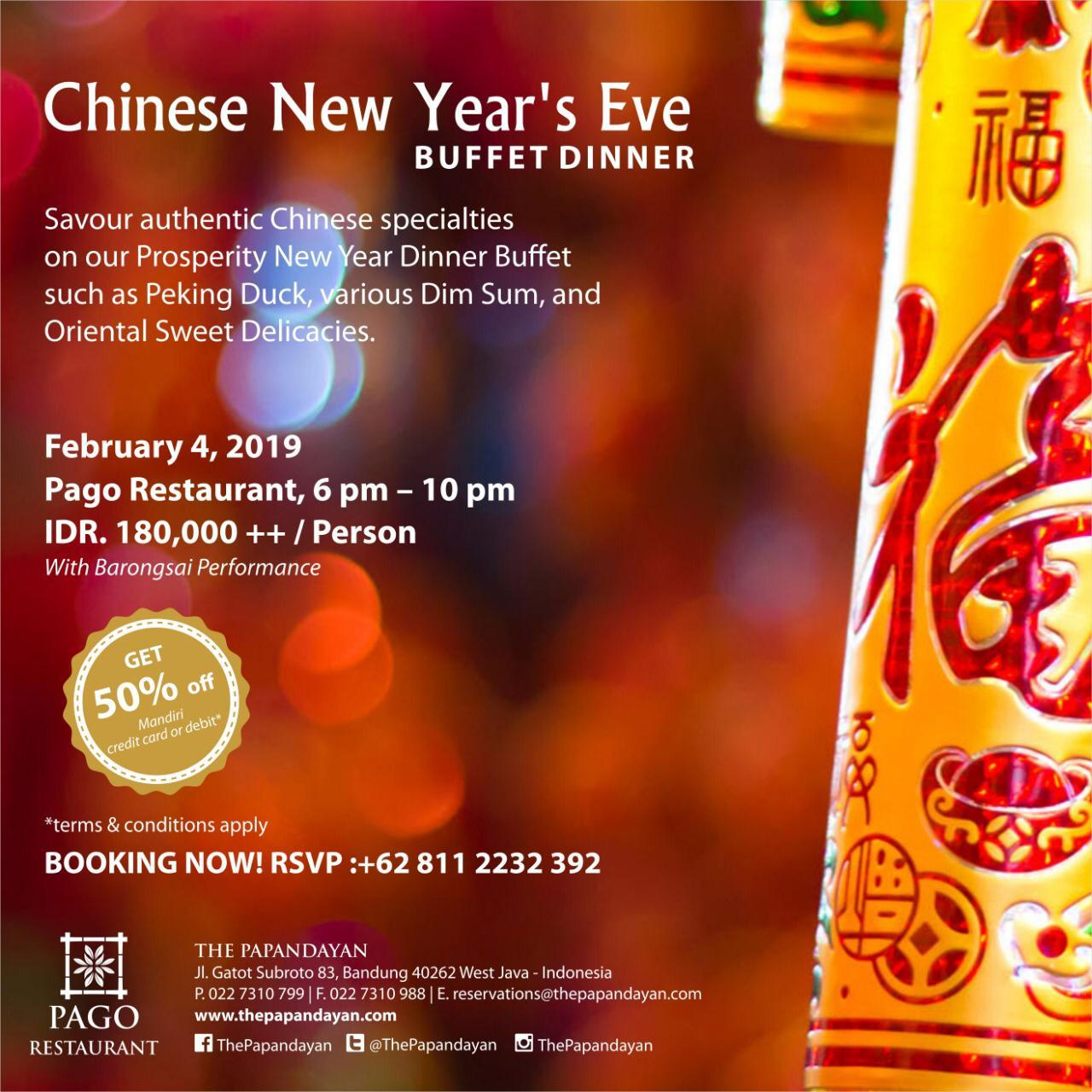 Chinese New Years Eve Buffet Dinner At The Papandayan