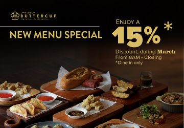 BUTTERCUP NEW MENU SPECIAL & ENJOY 15% DISCOUNT