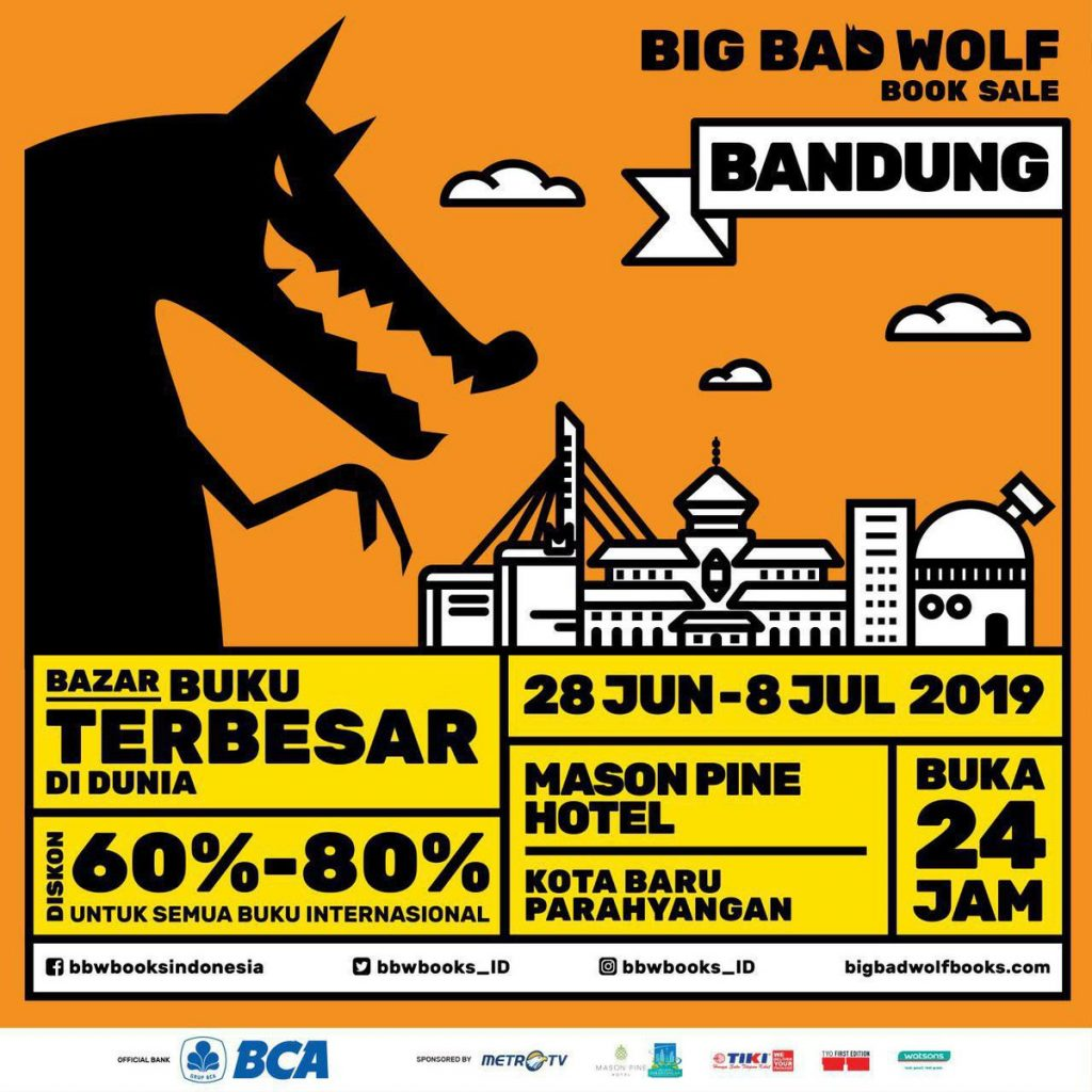 Big Bad Wolf Will Be Held For The First Time In Bandung What S New Bandung