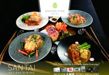 ENJOY 20% DISCOUNT FOR BCA CARDHOLDER AT SANTAI ALL DAY DINING