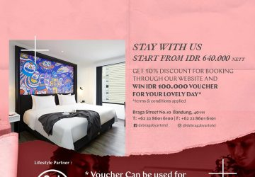 Stay With de Braga by Artotel and Chance Win A Voucher With Value IDR 100,000