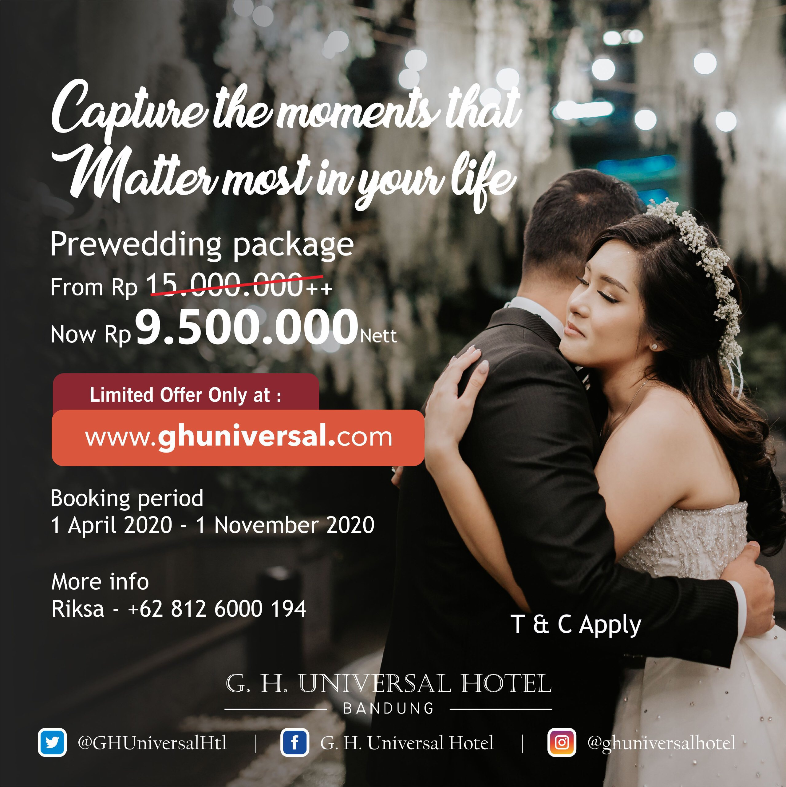 Celebrate The Most Memorable And Unforgettable Wedding Of Your Life At G H Universal Hotel Bandung What S New Bandung