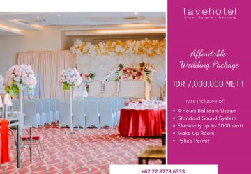 Affordable Wedding Ballroom Package at favehotel Hyper Square