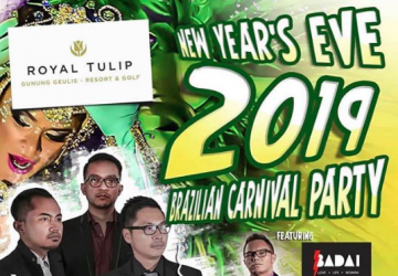 Brazilian Carnival Night: New Year's Eve Gala Dinner at Royal Tulip Gunung Geulis Resort & Golf
