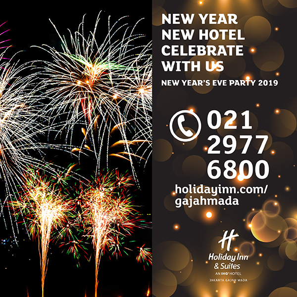 new year new hotel at holiday inn suites jakarta gajah mada