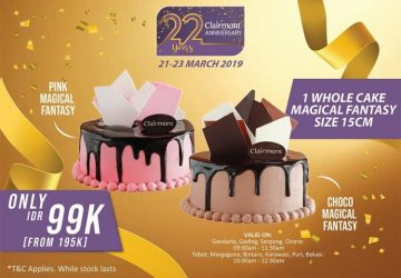 Special Offer: Clairmont 22 Years Anniversary Promo