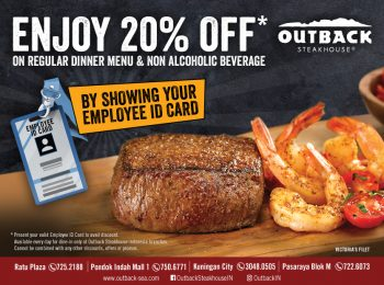 Enjoy 20% Off From Outback Steakhouse