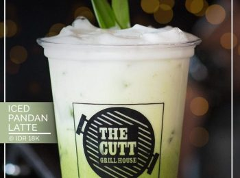 SPECIAL DRINK OF THE MONTH CED PANDAN LATTE  AT THE CUTT GRILL HOUSE