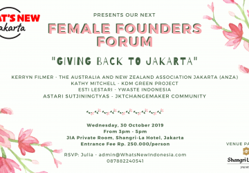 "Female Founders Forum ""Giving Back to Jakarta"""