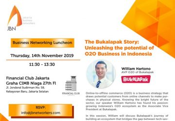 JBN Speed Networking session featuring Bukalapak on 14 November
