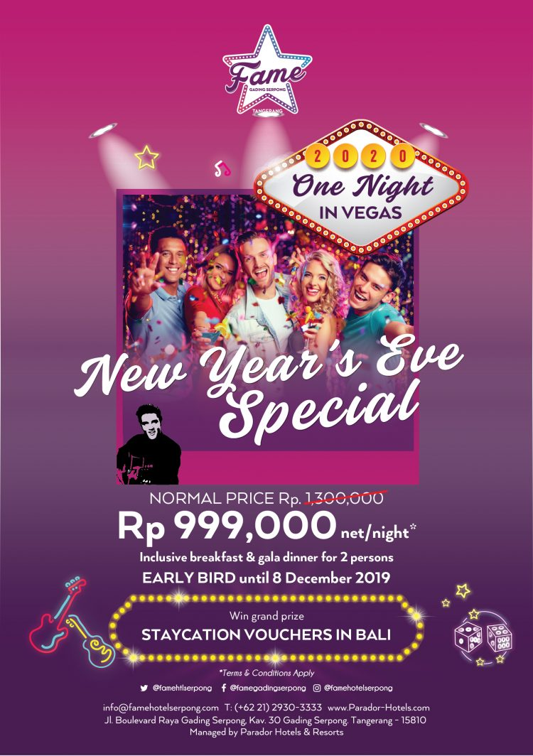 """NEW YEAR EVE 2020, FAME HOTEL GADING SERPONG PRESENT """"ONE ..."""