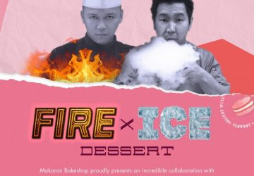 Fire and Ice Dessert at Makaron Bakeshop
