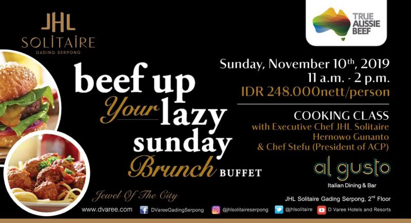 Sunday Brunch Buffet at JHL Solitaire Hotel Gading Serpong ...