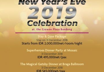 Spectacular New Year's Eve 2019 at The Crowne Plaza Bandung