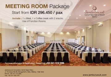 Meeting Room Package at Jambuluwuk Convention Hall & Resort Batu