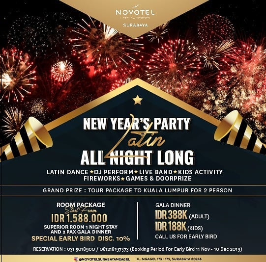 Best Places to Celebrate New Year's Eve 2020 in Surabaya - Whats New Indonesia