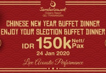Chinese New Year 2020 Dinner Buffet at Jambuluwuk Oceano Gili Trawangan Resort